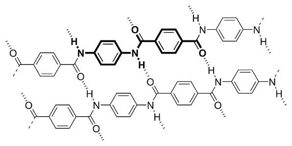Химическа структура на кевлар