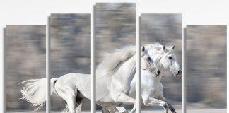 Декоративно пано за стена с коне