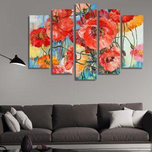 Картини за хол с цветя - макове