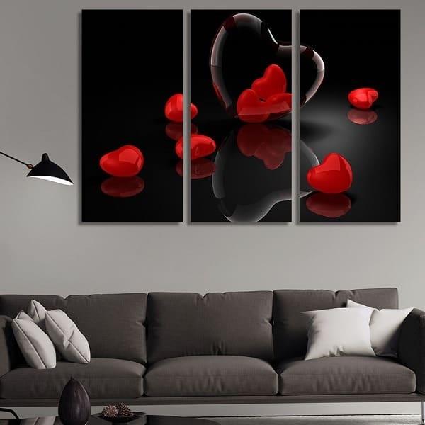 Картини за спалня - сърце и любов