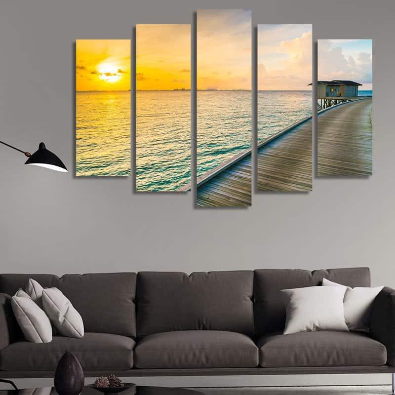 Картина пейзаж с море