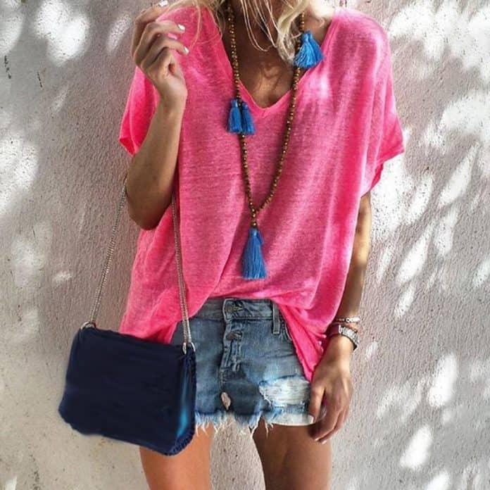 Розова дамска тениска