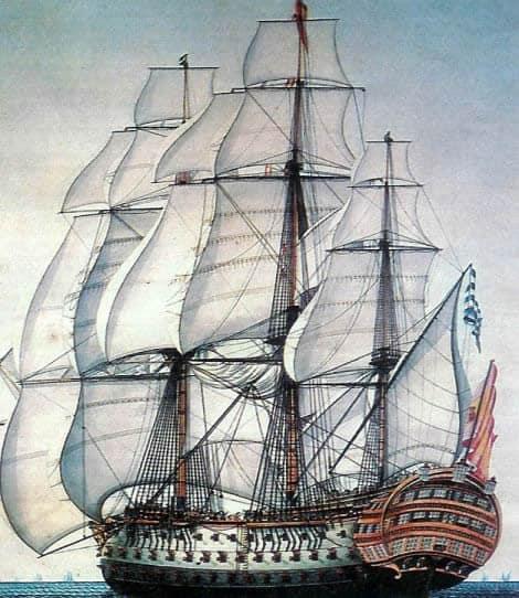 Любопитни факти за кораби - Nuestra Señora de la Santísima Trinidad