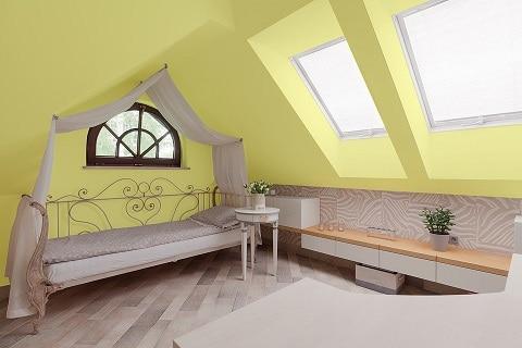 Жълт цвят във всекидневната